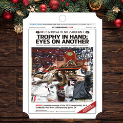 Ornament: SEC Champions Sports Section Front