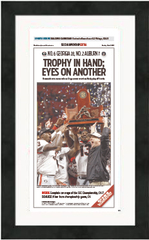 "Framed Poster: SEC Championship Sports Section Front (13"" x 22"")"
