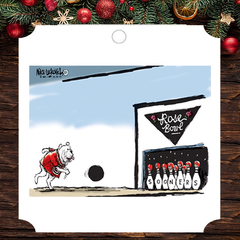 Ornament: Mike Luckovich Rose Bowl Cartoon