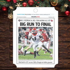 Ornament: Rose Bowl Sports Section Front