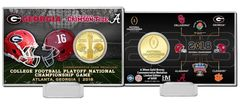 2018 College Football National Championship Dueling Bronze Coin Card