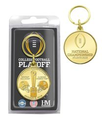 2018 College Football National Championship Dueling Bronze Coin Keychain