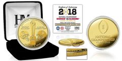 2018 College Football National Championship Dueling Gold Mint Coin