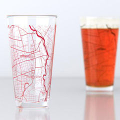 Athens pint glasses by UncommonGreen