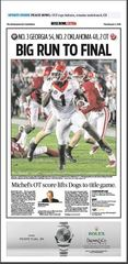 Poster: Rose Bowl Sports Section Front