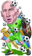 Poster: Atlanta United Brad Guzan Cartoon