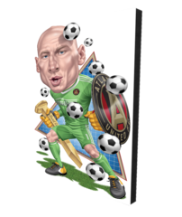Canvas: Atlanta United Brad Guzan Cartoon