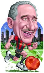 Poster: Atlanta United Arthur Blank Cartoon
